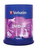 VERBATIM DVD+R 16X 100 SPINDLE 4.7GB
