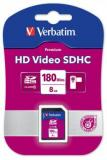 VERBATIM SDHC VIDEO CARD 8GB CLASS 6