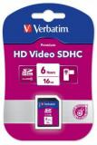 VERBATIM SDHC VIDEO CARD 16GB CLASS 6