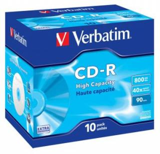 VERBATIM CDR 40X 800MB 10PK JC DL