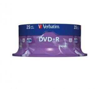 VERBATIM DVD+R 16X 25PK SPINDLE 4.7GB