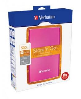 Verbatim HDD 2.5 500GB USB 3.0 PINK